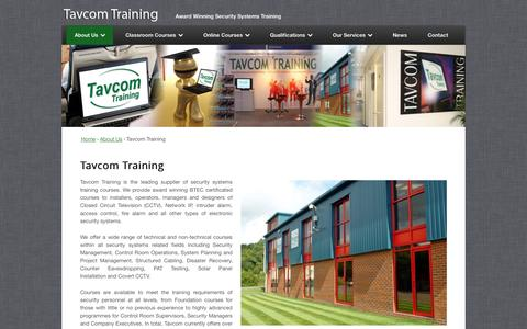Screenshot of About Page tavcom.com - Tavcom Training - Tavcom Training - captured Oct. 7, 2014