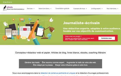 Screenshot of Home Page oxxalis.com - Agence rédaction BtoB Oxxalis, blogs, livres blancs, contenu éditorial - captured June 14, 2017