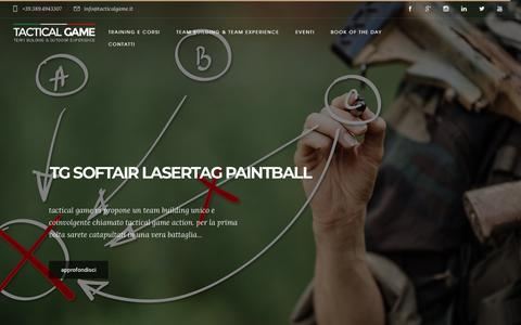 Screenshot of Home Page tacticalgame.it - home - Tactical Game - captured Sept. 20, 2018
