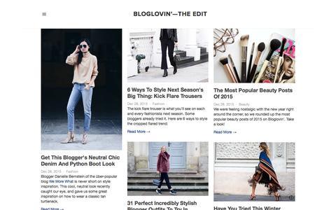 Screenshot of Blog bloglovin.com - Bloglovin'—the Edit - captured Dec. 29, 2015