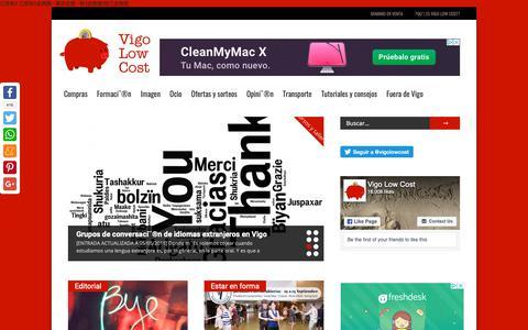 Screenshot of Home Page vigolowcost.com captured Nov. 7, 2018
