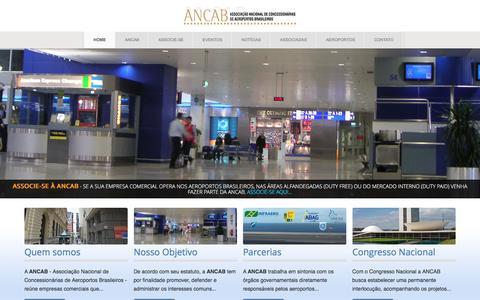 Screenshot of Home Page ancab.com.br - ANCAB - Associação Nacional de Concessionárias de Aeroportos Brasileiros - captured July 23, 2016