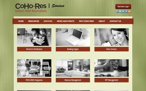 Screenshot of Services Page cohores.com - Services - CoHo•Res - captured Sept. 30, 2014