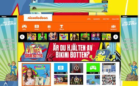 Screenshot of Home Page nickelodeon.se - Nickelodeon.se Startsida - captured Sept. 23, 2014