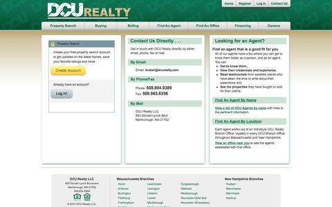 Screenshot of Login Page dcuhomes.com - Register/Log in to search for your dream home or contact us directly so we can learn how we can help you. - captured Nov. 3, 2014