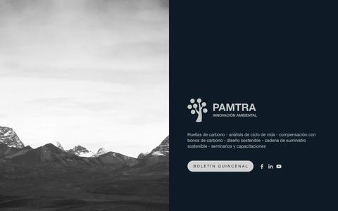 Screenshot of Home Page pamtra.com - Pamtra - captured Dec. 6, 2015