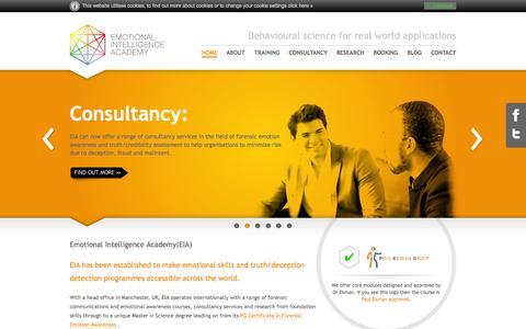 Screenshot of Home Page emotional-intelligence-academy.com - Emotional Intelligence Academy - captured Sept. 29, 2014