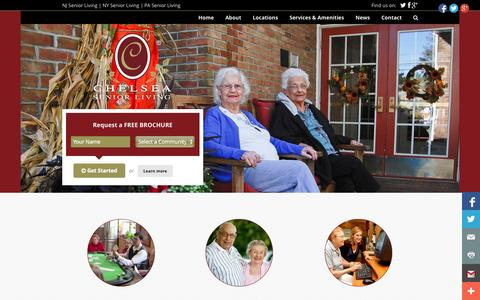 Screenshot of Home Page chelseaseniorliving.com - NJ Assisted Living | NJ Independent Living | Chelsea Senior Living | NJ, NY and PA Senior Living - captured Sept. 29, 2014