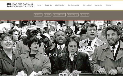 Screenshot of About Page jfrej.org - About Us | JFREJ - captured Feb. 11, 2016