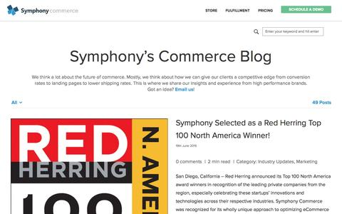 Screenshot of Blog symphonycommerce.com - Symphony's Commerce Bog - captured July 3, 2015