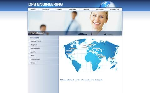 Screenshot of Locations Page dpseng.com - Welcome to DPS Engineering | A project management and engineering company delivering projects from concept to completion - captured Oct. 5, 2014