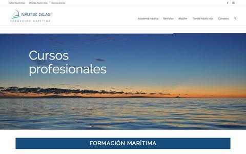 Screenshot of Home Page nauticislas.com - Nautic Islas Formación Marítima - captured Jan. 10, 2016
