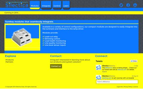 Screenshot of Products Page silectica.com - Service Modules | Silectica - captured Oct. 9, 2014