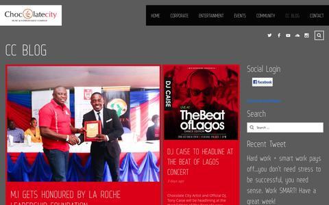 Screenshot of Press Page chocolatecitygroup.com - CC BLOG - Chocolate City - captured Sept. 23, 2014