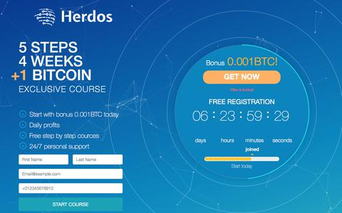 Screenshot of Home Page Blog herdosinvest.com - Herdos Exclusive | Cryptocurrency Investment - captured July 16, 2018