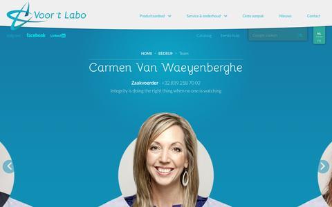 Screenshot of Team Page voortlabo.be - Teamleden Voor 't Labo - captured Dec. 2, 2016