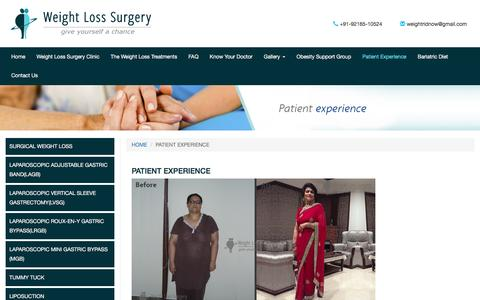 Patient Experience :  Weight Loss India