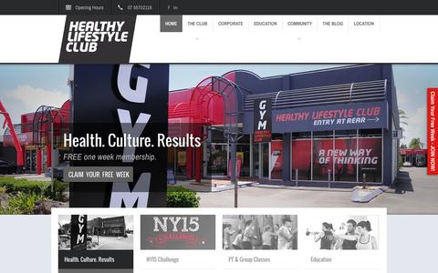 Screenshot of Home Page hlcclub.com.au - Healthy Lifestyle Club - Health and Fitness on the Gold CoastHealthy Lifestyle Club | Health and Fitness on the Gold Coast - captured Jan. 25, 2015