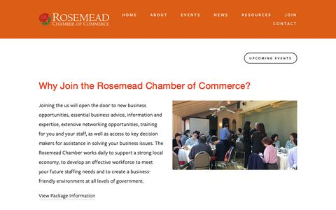 Screenshot of Signup Page rosemeadchamber.org - New Members — Rosemead Chamber of Commerce - captured Oct. 20, 2018