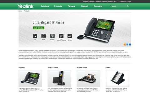 Screenshot of Products Page yealink.com - Yealink - the Global TOP 2 SIP Phone Provider - captured Nov. 2, 2014