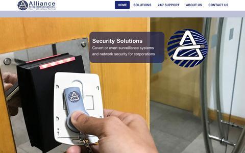 Screenshot of Home Page alliancetel.com - Alliance Telecommunications - captured Dec. 18, 2018