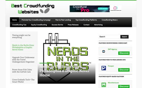 Screenshot of Home Page best-crowdfunding-websites.com - Best Crowdfunding WebsitesBest Crowdfunding Sites/Websites, Crowdfunding Promotion Service - captured Aug. 5, 2015