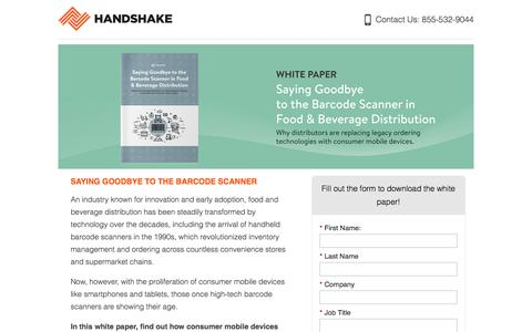 Screenshot of Landing Page handshake.com captured Sept. 19, 2018