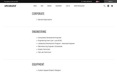 Careers | Specialized.com