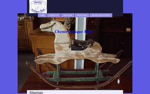 Screenshot of Site Map Page chesterantiquemall.com - Chester Antique Mall - Home - captured Oct. 1, 2014