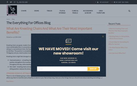 Screenshot of Blog everythingforoffices.com - The Everything for Offices Blog - captured July 22, 2018