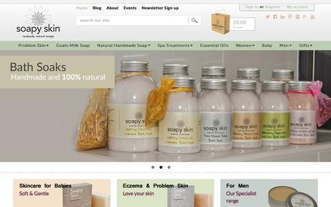 Screenshot of Home Page soapyskin.co.uk - Soapy Skin Ltd Handmade Natural Soaps. - captured Feb. 26, 2016