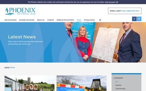 Screenshot of Press Page phoenixnaturalgas.com - News   Phoenix Natural Gas - captured Oct. 21, 2018