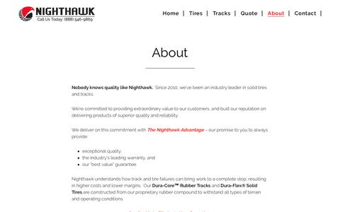 Screenshot of About Page nighthawktires.com - About - Nighthawk Tires - captured Dec. 21, 2016