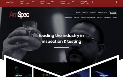 Screenshot of Home Page amspecllc.com - AmSpec Services - captured July 29, 2018