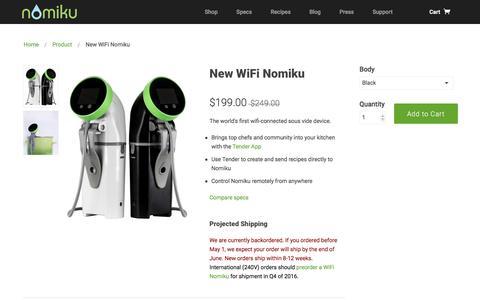 Screenshot of nomiku.com - WiFi Nomiku | Nomiku - captured June 23, 2016