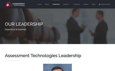 Screenshot of Team Page atechltd.com - Leadership and Tax Expert - Assessment Technologies - captured Oct. 4, 2018