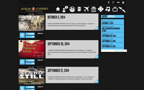 Screenshot of Services Page jctgbtg.org - Church Sunday Worship Services Archives - JESUS CHRIST To God Be The Glory Church International - captured Oct. 4, 2014