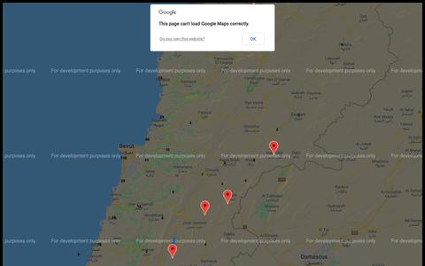 Screenshot of Maps & Directions Page cashunited.com - CU Network Map - captured Nov. 4, 2018