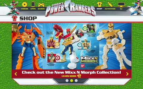 Screenshot of Products Page powerrangers.com - Power Rangers Products | Toys, Games, Halloween Costumes, and Collectibles - captured Aug. 8, 2015