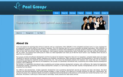 Screenshot of About Page paulgroups.net - Paulgroups - captured Sept. 29, 2014