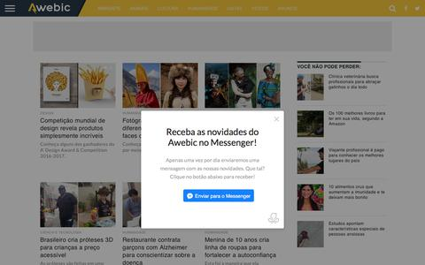 Screenshot of Home Page awebic.com - Awebic - As melhores histórias da web. - captured June 20, 2017