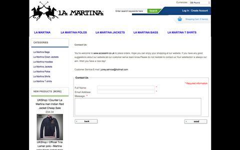 Screenshot of Contact Page accessrm.co.uk - Contact Us : La Martina Men clothing online sale, La Martina cheap sale, La Martina Men clothing online sale, La Martina cheap sale - captured Feb. 5, 2016