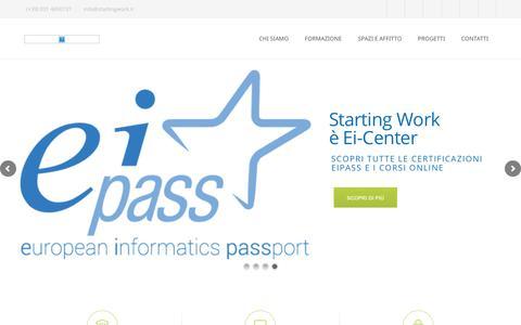 Screenshot of Home Page startingwork.it - Istituto Superiore Starting WorkHomepage - Istituto Superiore Starting Work - captured Sept. 27, 2018