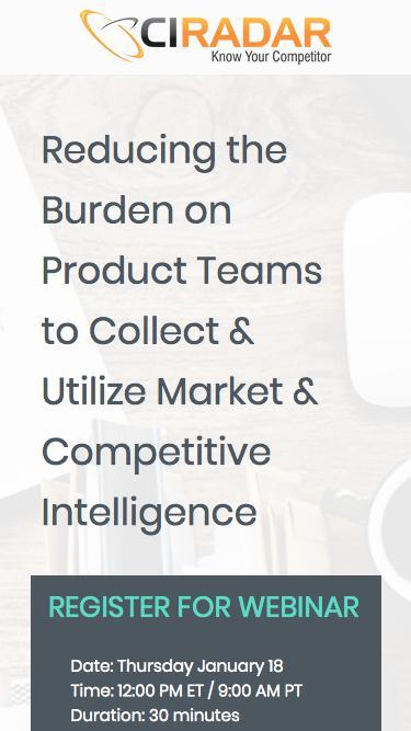 Product Team Webinar