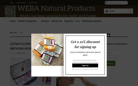 Screenshot of Blog webanaturalproducts.com - Blog - captured June 12, 2017