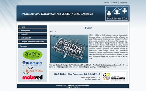 Screenshot of Home Page blackforest-eda.de - BlackForest EDA - Home - captured Sept. 30, 2014