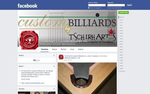Screenshot of Facebook Page facebook.com - Tschirhart's Custom Billiards Inc. | Facebook - captured Oct. 26, 2014