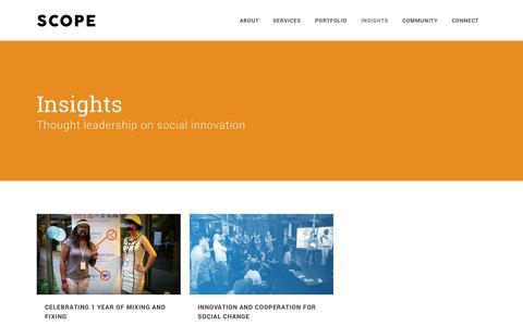 Screenshot of Blog scopegroup.asia - Scope Group |   Insights - captured Nov. 2, 2014
