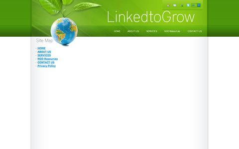 Screenshot of Site Map Page linked2grow.com - Sitemap - LinkedtoGrow - captured Oct. 1, 2014