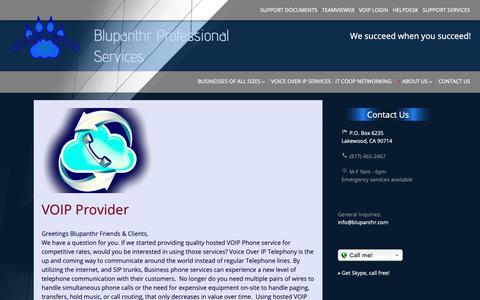 Screenshot of Press Page blupanthr.com - News | Blupanthr Professional Services - captured Nov. 13, 2018